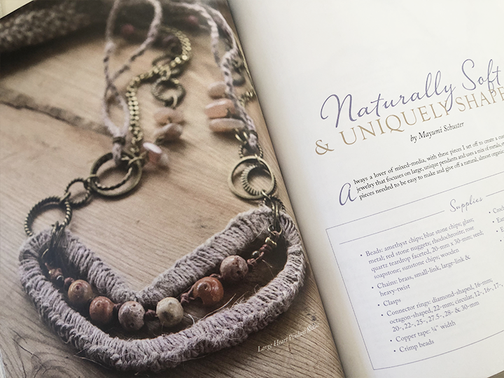 Boho-chic hemp heart necklace - Belle armoire magazine